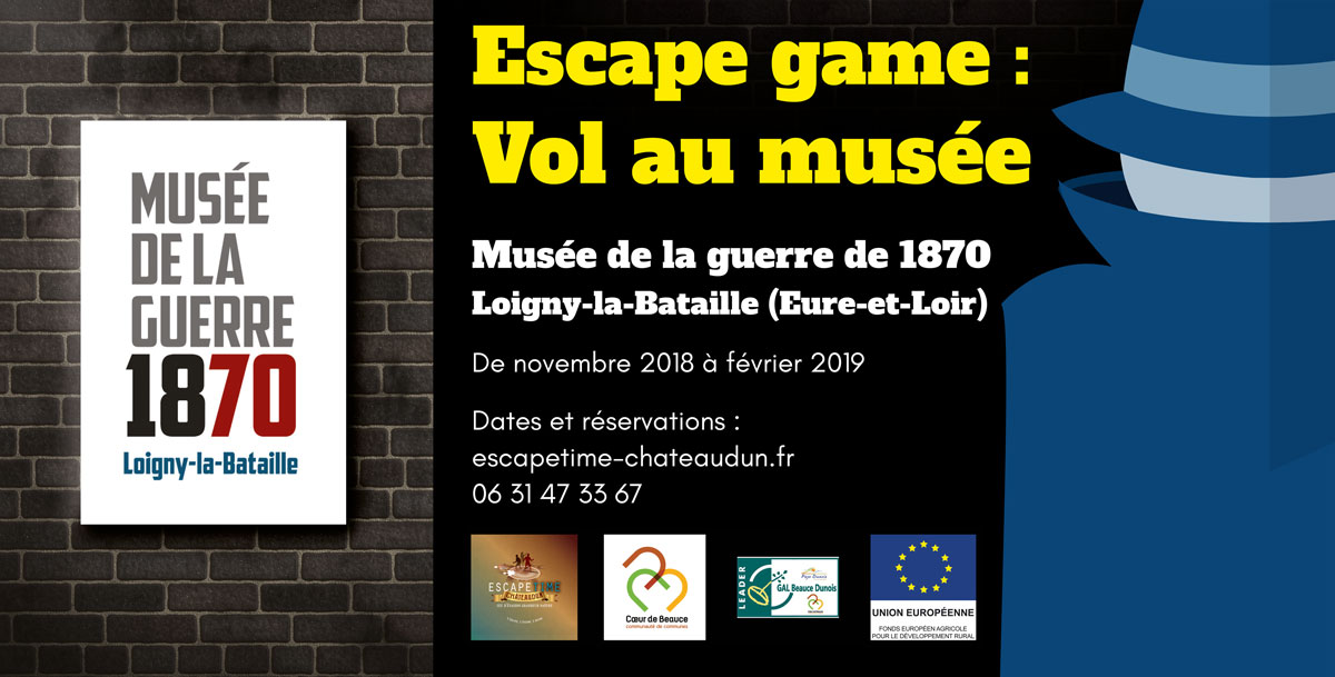Affiche Escape game : vol au musée